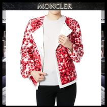 【MONCLER GAMME ROUGE】フラワー柄 ダウンジャケット RED/EMS