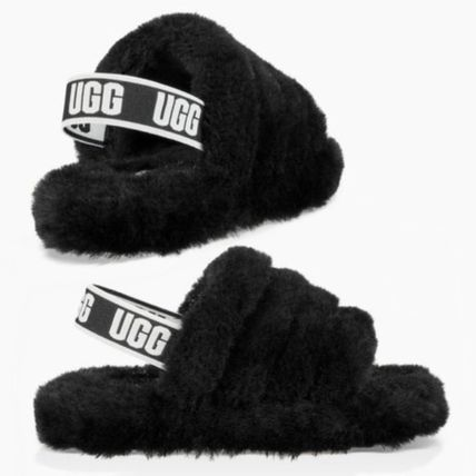 UGG キッズサンダル UGG☆'18新作キッズ大人も履けるFLUFF YEAH SLIDE(3)