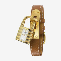 HERMES(エルメス) Kelly White Dial Tan Leather Ladies Watch