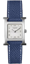 HERMES(エルメス) H Hour Ladies Blue Grained Leather Watch