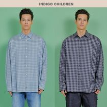 INDIGO CHILDREN(インディゴチルドレン) シャツ ☆INDIGO CHILDREN☆ WINNER着用 OVERSIZED CHECK TAIL SHIRT