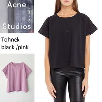 Acne Tohnek Logo T shirts black/white コットンロゴTシャツ2色