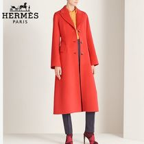 【18RESORT】HERMES*エルメス*Tailored collar coat*コート