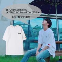 BTS-JIN(ジン)着用Tシャツ☆BEYOND LETTERING LAYERED 1/2RoundT