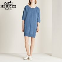 【18RESORT】HERMES*エルメス*Three-quarter sleeve*ドレス2