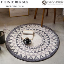 DECO VIEW(デコヴュー) ★Ethnic Bergen Soft Circle Rug -100R