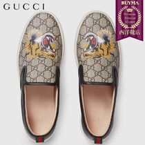 【正規品保証】GUCCI★18秋冬★GG SUPREME TIGER SLIPON SNEAKER