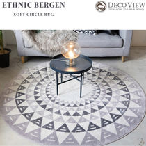 DECO VIEW(デコヴュー) ★Ethnic Bergen Soft Circle Rug -180R