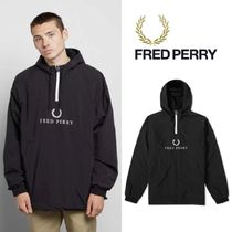 FRED PERRY(フレッドペリー) ブルゾン 新作★Fred Perry Embroidered Half Zip Jacket★フレッドペリー