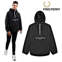 新作★Fred Perry Embroidered Half Zip Jacket★フレッドペリー