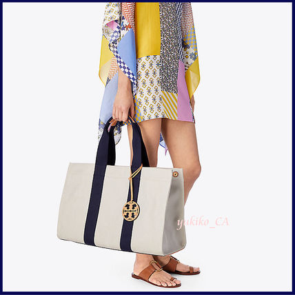Tory Burch マザーズバッグ 【国内発送】MILLER LARGE CANVAS TOTE セール(5)