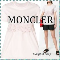 VIP価格★MONCLER★Floral-embroidered flared Tシャツ