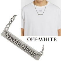 ◆Off-White◆シルバートーンネックレス◇NAME HERE◇