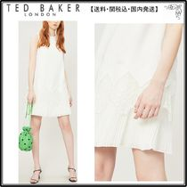 【関税込】TED BAKER ドレス☆Nadeen lace-trim crepe dress