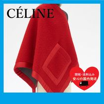 CELINE(セリーヌ) ブランケット CELINE  RED GREY TWO TONED ACCESSORY IN TWO TONE BLANKET
