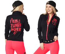 ◆7月新作◆Zumba Power Zip Up Cardigan-Bold Black