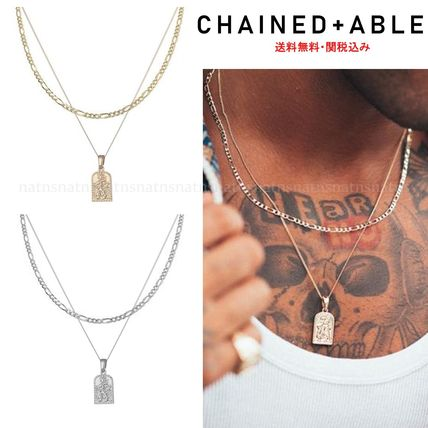 Chained & Able ネックレス・チョーカー 関税込 Chained & Able☆タグペンダント&チェーンネックレス*2色
