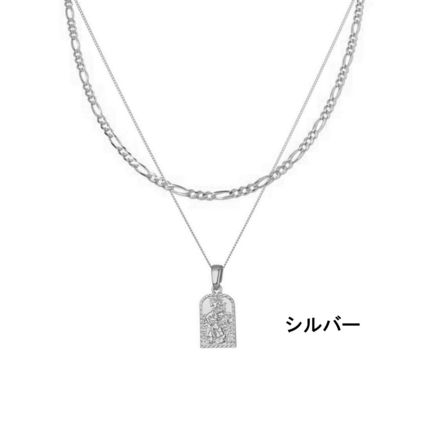 Chained & Able ネックレス・チョーカー 関税込 Chained & Able☆タグペンダント&チェーンネックレス*2色(2)