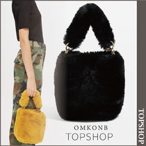 【国内発送・関税込】TOPSHOP★Teddy Faux Fur Bucket Bag