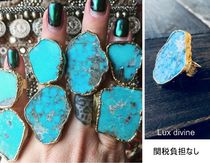 Lux Divine(ラックス・ディバイン) 指輪・リング LA発★TURQUOISE MOUNTAIN 天然石 ターコイズリング(大)Gold
