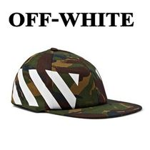 ◆Off-White オフホワイト◆迷彩&Diagonal Brushed CAP