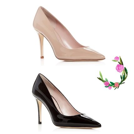 kate spade new york シューズ・サンダルその他 Kate Spade★Vivien Patent Leather Kitten-Heel Pumps☆セール