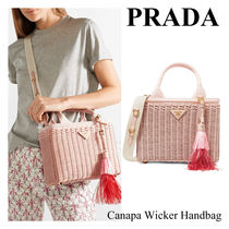 【2018 SS】『PRADA-プラダ-』Canapa Wicker Handbag〔1BG835〕
