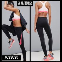 【Nike】Running Power Essential Dri-Fit Leggings Pink Swoosh