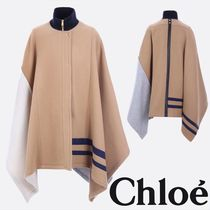 Chloe Color Block Wool Cape 関税送料込
