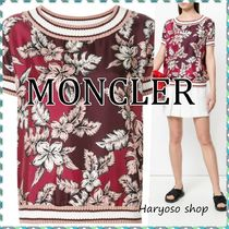 VIP価格★MONCLER★Short-sleeve floral ブラウス