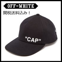 大人気!関税送料込★Off-White★BLACK QUOTE CAP
