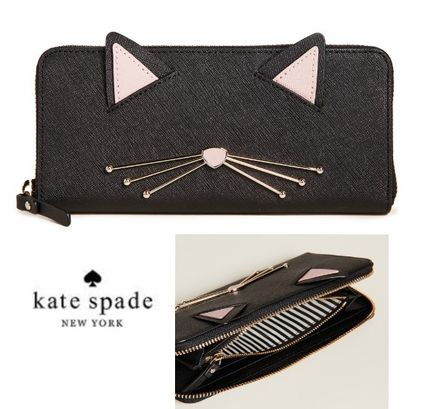 【Kate Spade】Cat's Meow Lindsey 猫ちゃんの長財布