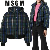 【18AW】大注目!!★MSGM★checked bomber jacket