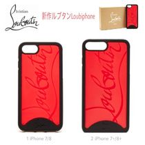 ロゴ★赤黒【送込Christian Louboutin】iPhone 7/8/+/Loubiphone