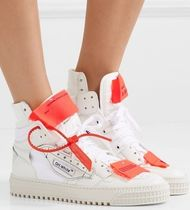 ★関税負担★OFF-WHITE★LOGO-EMBELLISHED HIGH-TOP SNEAKERS