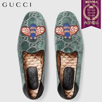 【正規品保証】GUCCI★18秋冬★GG VELVET LOAFER WITH BEE
