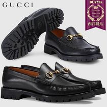 【正規品保証】GUCCI★18秋冬★HORSEBIT LEATHER LOAFER_NERO