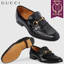 【正規品保証】GUCCI★18秋冬★LEATHER FRINGE HORSEBIT LOAFER