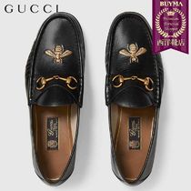 【正規品保証】GUCCI★18秋冬★LEATHER LOAFER WITH BEE