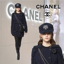 【18AW】★CHANEL★キャップ ウール & シルク