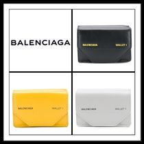 ★BALENCIAGA 《 LEATHER BILL WALLET 》3カラー選択 送料込み★