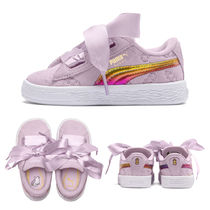 ★PUMA x MINIONS★SUEDE HEART FLUFFY PS★追跡付 36664201
