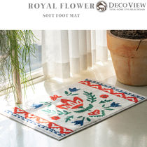 DECO VIEW(デコヴュー) ★Royal Flower Soft Foot Mat - 65x45