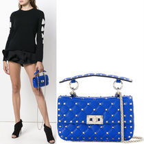 18-19AW V1158 ROCKSTUD SPIKE SMALL CHAIN BAG
