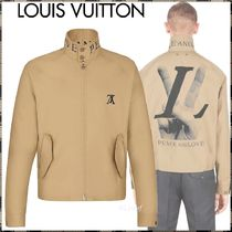 【新作】18FW ルイヴィトン☆HAND LV GRAPHIC HARRINGTON
