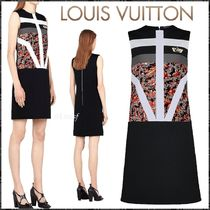 2018FW LV☆Digital Exclusive Dress with Graphic Stripes