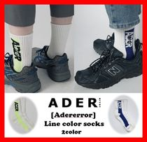 2018SS☆韓国の人気【ADERERROR】☆ Line color socks ☆2色☆