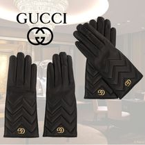 VIP価格【Gucci】GG MARMONT LEATHER GLOVES 関税込