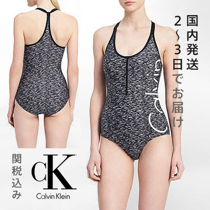 Calvin Klein  SWIMSUITS ワンピース水着  LOGO