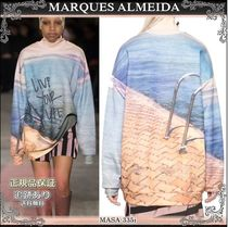 19AW☆送料込【MARQUES ALMEIDA】 LIVE YOUR LIFE トレーナー